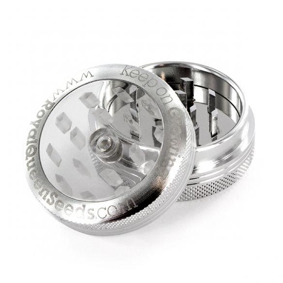 RQS Grinder Aluminio Tapa Transparente 2 Piezas