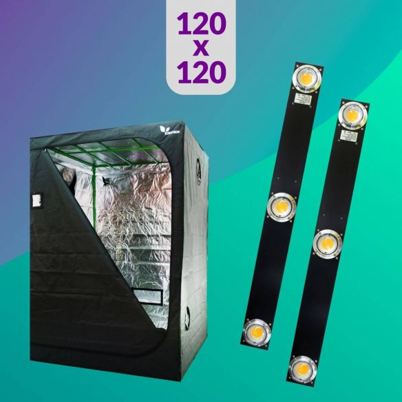 Pack 120X120 Duo LED Spectra Slim - 400W