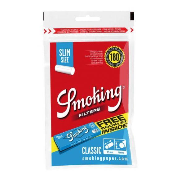 Smoking Filtro Slim Size Classic Blue Regular 180und