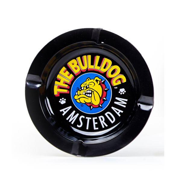 Cenicero Metálico Bulldog Negro